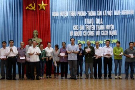 Agribank và Thông tấn xã VN tri ân các gia đình chính sách tại Quảng Trị