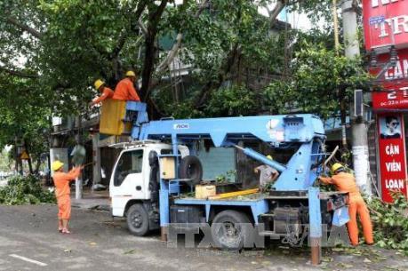 Ảnh hưởng của bão số 1: Đã cấp điện trở lại cho toàn bộ khách hàng ở Hà Nội và Hải Phòng