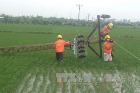 Khắc phục sự cố lưới điện sau bão số 1