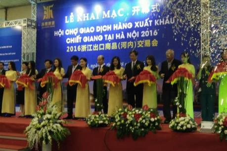 Khai mạc Hội chợ Chiết Giang 2016