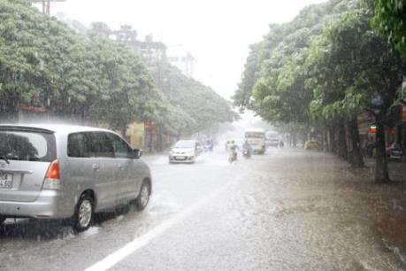 Ảnh hưởng của bão số 2: Mưa lớn làm ngập nhiều tuyến đường ở Hà Giang