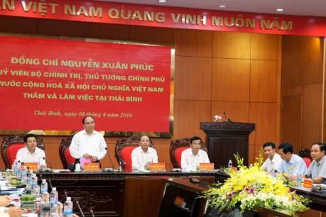 Thủ tướng Nguyễn Xuân Phúc: Thái Bình cần đẩy mạnh tái cơ cấu nông nghiệp