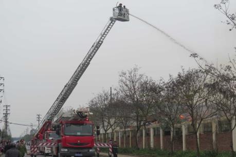 Cháy lớn tại Công ty TNHH BuJeon, Bắc Ninh