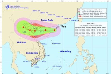 Dự báo thời tiết 24 giờ tới: Tin khẩn về cơn bão số 3