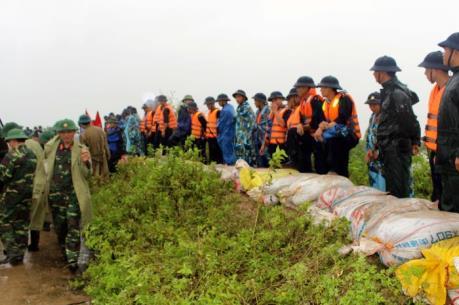 Hàng nghìn hecta lúa và hoa màu bị ngập úng do bão số 3