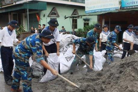 Quân đội huy động lực lượng, phương tiện ứng phó với bão số 3