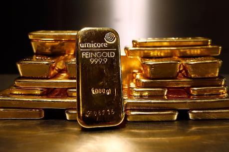 Giá vàng thế giới ngày 24/8 giảm xuống mức thấp nhất trong tháng