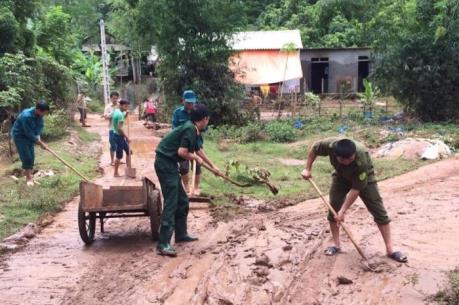 Bắc Giang sơ tán các hộ dân trong khu vực nguy hiểm sau mưa lớn