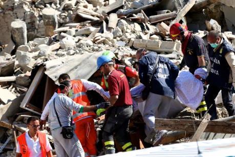 Động đất tại Italy: Ban bố tình trạng khẩn cấp tại khu vực bị động đất