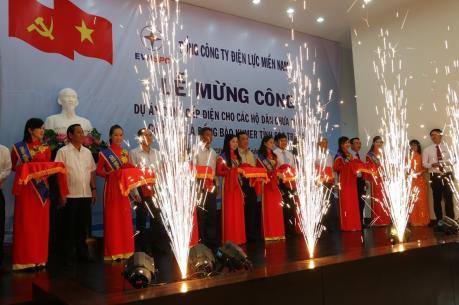 Đồng bào Khmer Sóc Trăng trong niềm vui điện về Phum sóc