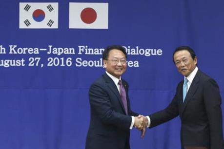 Hàn Quốc và Nhật Bản nhất trí đàm phán hoán đổi tiền tệ