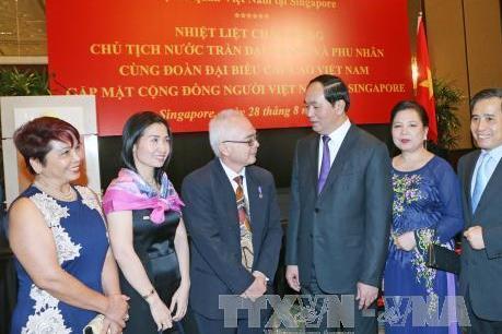 Chủ tịch nước Trần Đại Quang bắt đầu chuyến thăm cấp Nhà nước tới Cộng hòa Singapore
