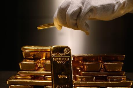 Giá vàng thế giới ngày 29/8 nhích lên từ mức thấp của 5 tuần qua