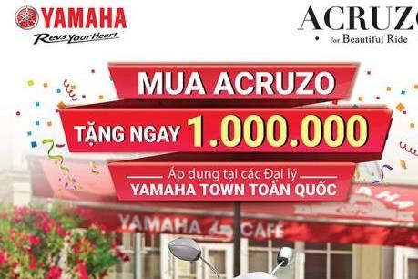 Yamaha Motor Việt Nam tặng tiền cho khách mua xe Acruzo