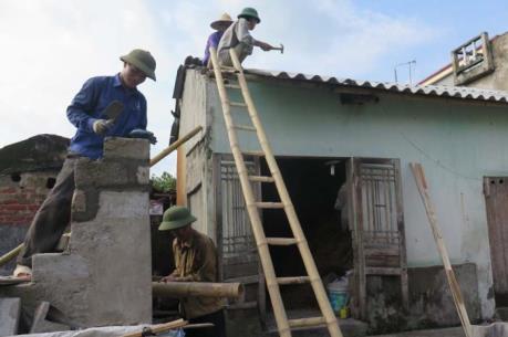 Hơn 100 hộ dân bị thiệt hại do lốc xoáy ở Tứ Kỳ, Hải Dương