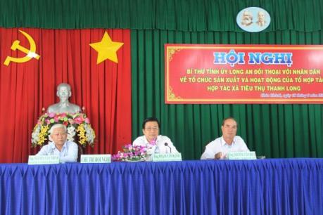 Bí thư Tỉnh ủy Long An đối thoại trực tiếp với dân về sản xuất và tiêu thụ thanh long