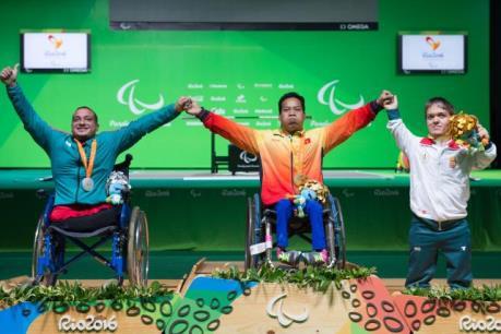 Thưởng nóng cho tất cả các vận động viên giành huy chương tại Paralympic 2016