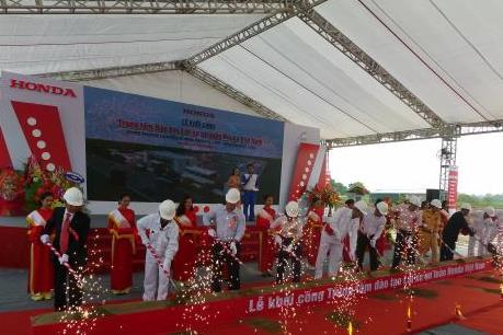 Honda khởi công xây dựng Trung tâm đào tạo lái xe an toàn thứ hai tại Vĩnh Phúc