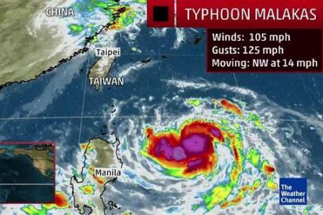 Đài Loan (Trung Quốc): Gần 200 chuyến bay phải hủy do bão Malakas