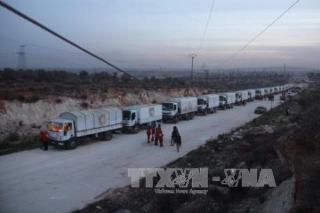Đoàn xe cứu trợ nhân đạo của LHQ tại Syria bị tấn công