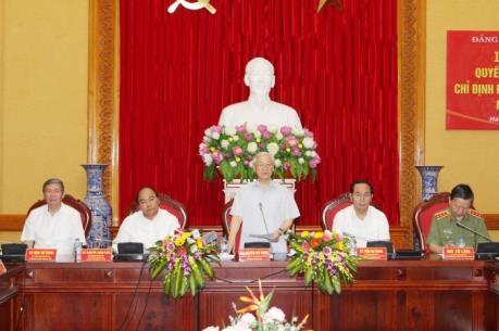 Công bố Quyết định của Bộ Chính trị chỉ định Đảng ủy Công an Trung ương