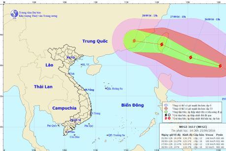 Tin bão mới nhất: Xuất hiện siêu bão MEGI cấp 14 trên vùng biển Philippin