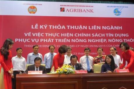 Agribank ký thoả thuận liên ngành triển khai Nghị định 55