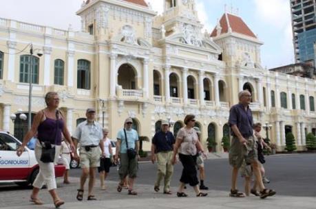 Du khách quốc tế đến Tp Hồ Chí Minh tăng 13%
