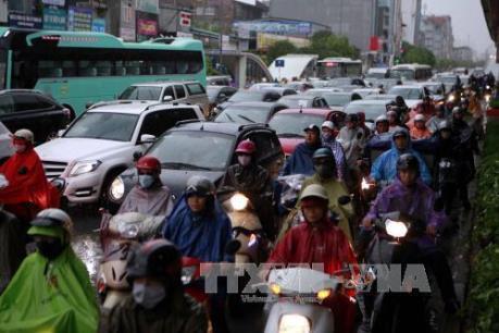 Mưa lớn tại Tp. Hồ Chí Minh gây ách tắc giao thông cục bộ