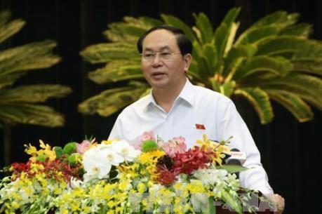 Chủ tịch nước Trần Đại Quang: Doanh nhân Tp. Hồ Chí Minh phải luôn đóng vai trò tiên phong