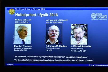 Bộ ba nhà khoa học Anh giành giải Nobel Vật lý 2016