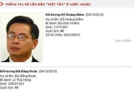 """Thông báo của Bộ Công an về tổ chức """"khủng bố"""" Việt Tân"""
