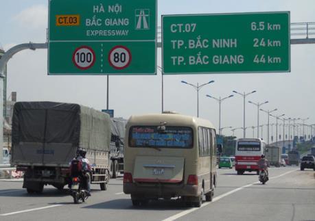 Chính thức giảm tốc độ trên cao tốc Hà Nội – Bắc Giang