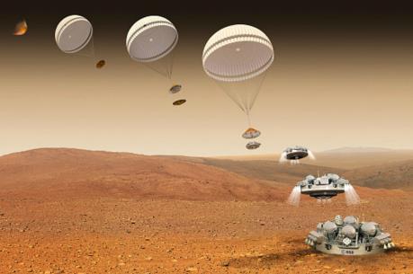 Module hạ cánh Schiaparelli thuộc dự án ExoMars bắt đầu đáp xuống Sao Hỏa