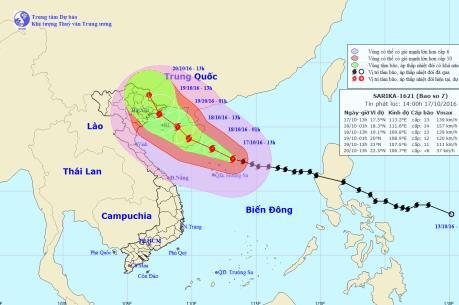 Dự báo thời tiết 19/10: Bão số 7 đã đi vào Vịnh Bắc Bộ và giảm xuống cấp 11