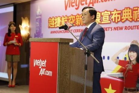 Vietjet chính thức mở đường bay mới Việt Nam - Đài Loan (Trung Quốc)