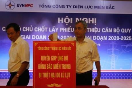 EVNNPC quyên góp gần 2,2 tỷ đồng ủng hộ đồng bào miền Trung