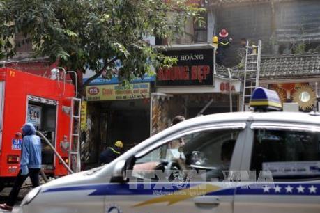 Làm rõ nguyên nhân vụ cháy phòng tranh Huy Hoàng, số 65A phố Nguyễn Thái Học