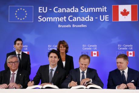 EU, Canada chính thức ký thỏa thuận tự do thương mại