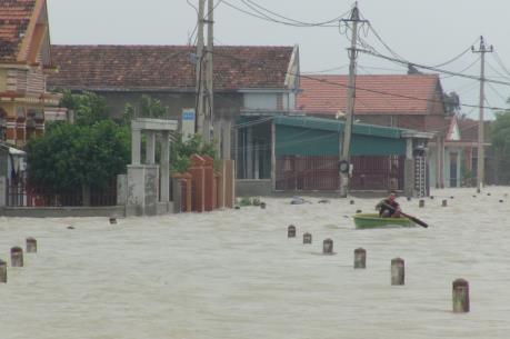 Thừa Thiên - Huế: Mưa to gây úng ngập cục bộ tại nhiều địa phương