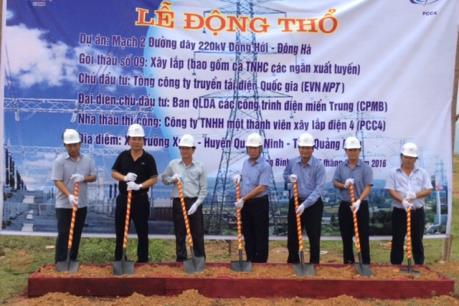 Xây dựng các đường dây 220 kV mạch 2 Đồng Hới - Đông Hà và Đông Hà – Huế