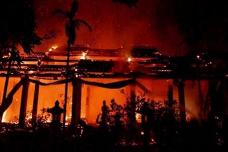 Vụ cháy chùa Sải (Hà Nội) khả năng do chập điện