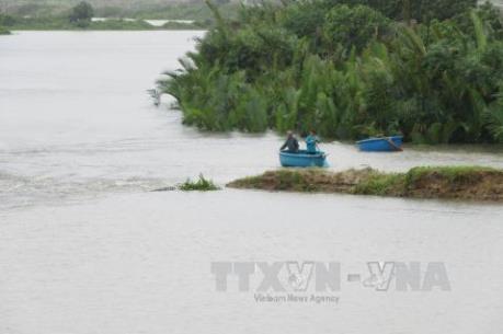 Áp thấp nhiệt đới gây mưa lớn trên địa bàn Bình Thuận