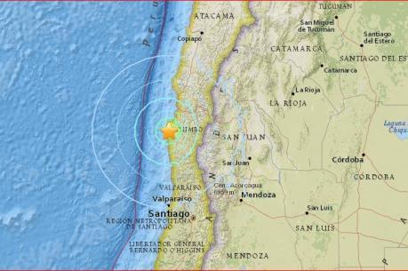 Động đất rung chuyển bờ biển phía Tây Chile