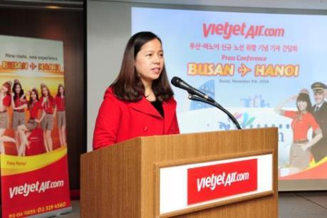Vietjet tiếp tục mở đường bay mới, kết nối Hà Nội-Busan
