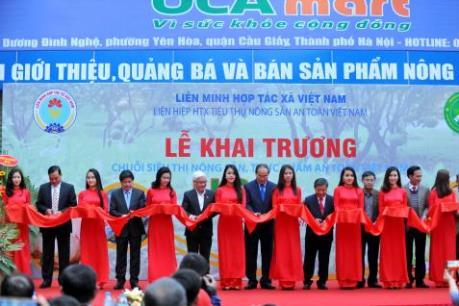 Khai trương 3 siêu thị tiêu thụ nông sản an toàn tại Hà Nội