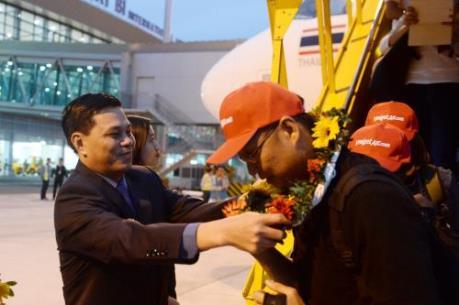 Vietjet đón chuyến bay đầu tiên trên tuyến đường Hải Phòng - Bangkok