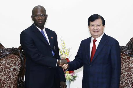 Phó Thủ tướng Trịnh Đình Dũng tiếp Giám đốc Quốc gia Ngân hàng Thế giới tại Việt Nam