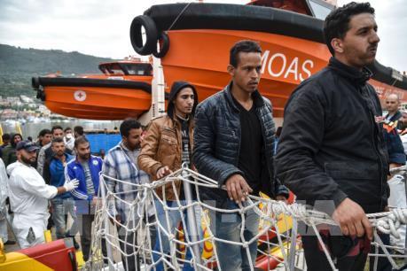 1400 người di cư được cứu trên Địa Trung hải