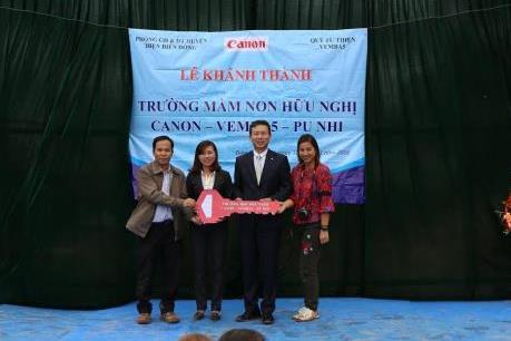 Canon mở rộng chuỗi trường học hữu nghị tại Điện Biên